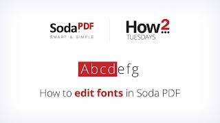 How to Edit Fonts in Soda PDF