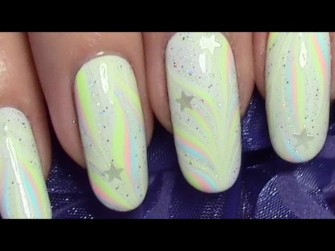 dezentes winter water marble nageldesign mit sternen nail art design tutorial youtube. Black Bedroom Furniture Sets. Home Design Ideas