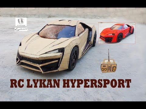 WOW! Super RC Lykan Hypersport || How to make Cardboard Lykan || DIY ||  Electric Toy Car