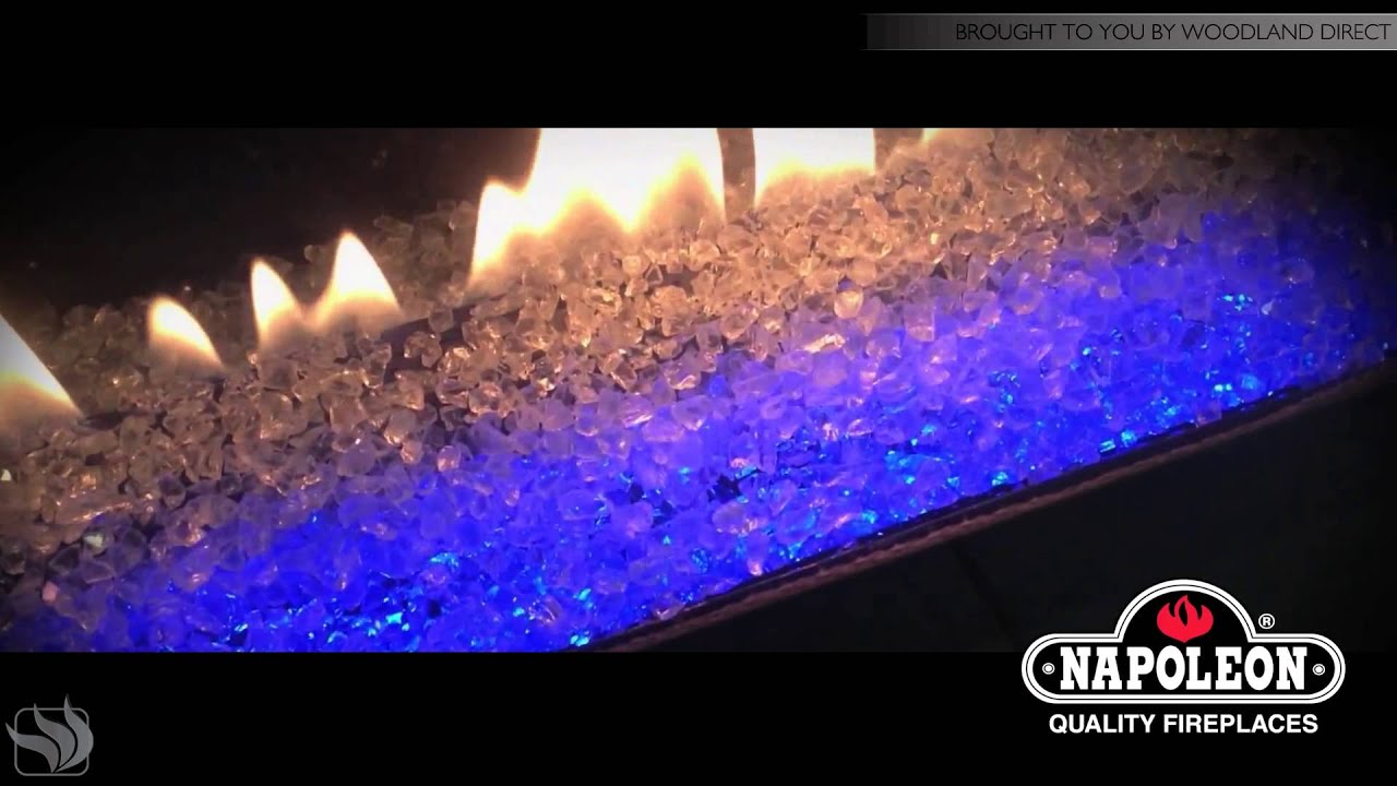 napoleon gas fireplaces led light transitioning effects youtube