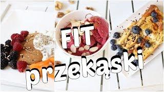Fit przekąski z odżywką białkową/ wspomacze siłowni