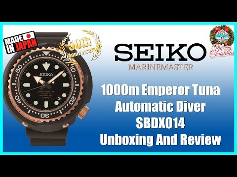 Seiko Marinemaster 1000m Emperor Tuna Automatic Diver SBDX014 Unboxing And Review