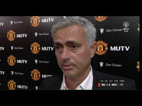 Jose Mourinho interview Man Utd-West Ham 4-0 13.08.2017