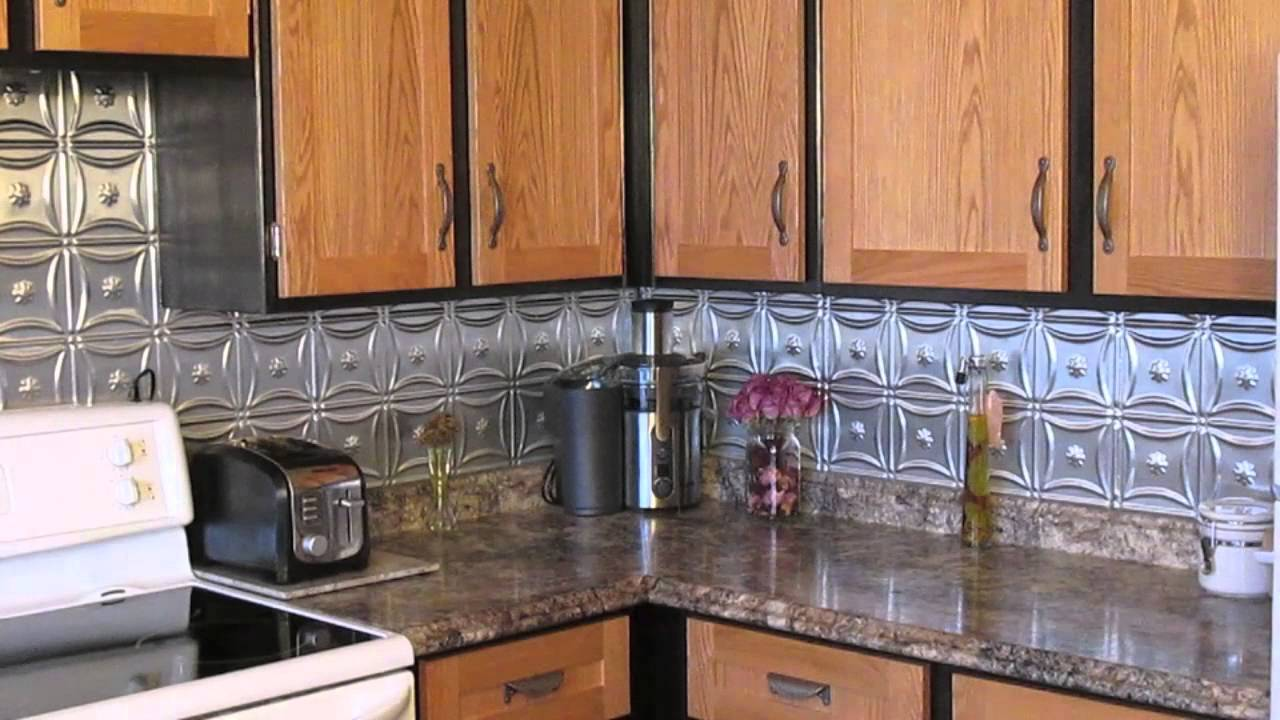 Kitchen Without Backsplash Metal Backsplash Improved Our Kitchen - Youtube