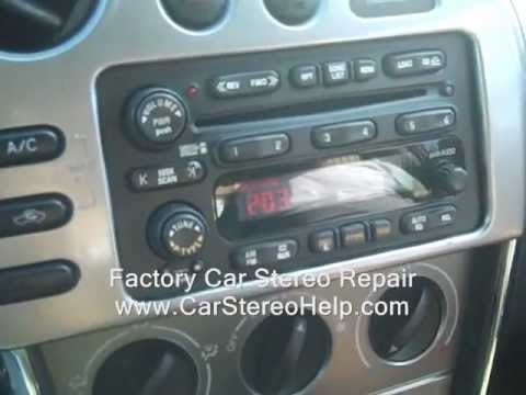 Pontiac Vibe Car Stereo Removal and Repair 2003-2008 - YouTube