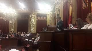 Thomàs ofrece un discurso en la sesión de sesión de apertura de la X legislatura autonómica