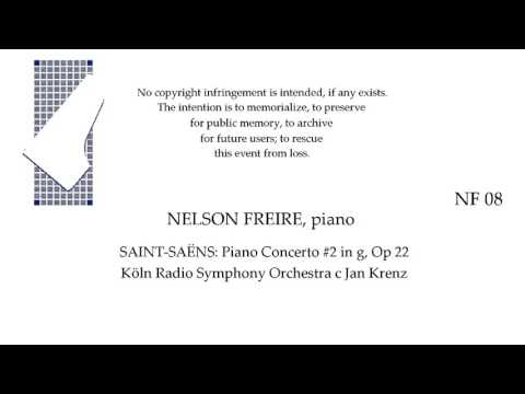 NELSON FREIRE, piano  SAINT SAENS Concerto #2 in g, Op 22  Koln c Krenz (Corrected)