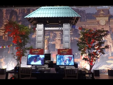 Inside the venue for the FFXIV Stormblood U.S. media tour