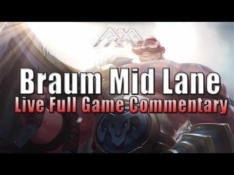Braum Mid Lane - PBE Gameplay - League Of Legends