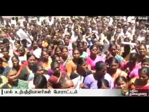 Live report: Milk producers stage protest in Salem to increase procurement rate
