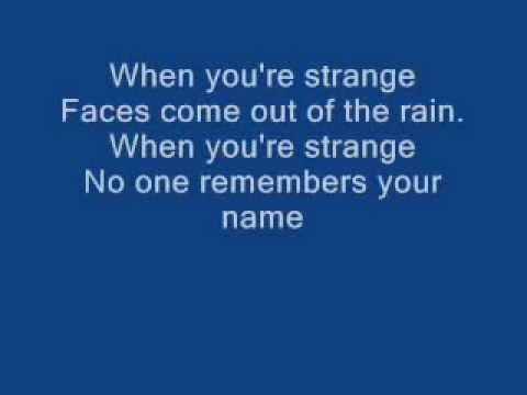 The Doors - People are strange (Lyrics)