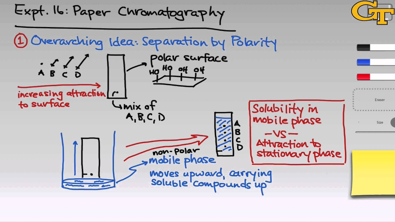 an introduction to paper chromatography Paper chromatography 9 paper chromatography 10 paper chromatography 11 let's review molecule polarity 12 8/26/2012: an introduction to chromatography an introduction to chromatography.