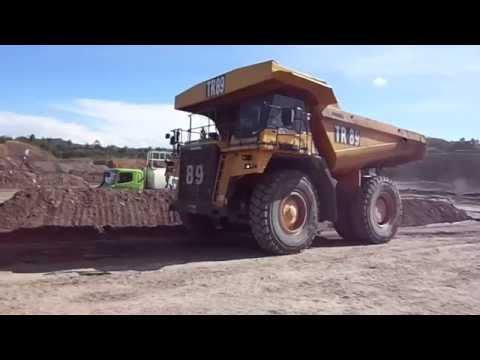 Truck fuel filling THD785 Coal mining Kitadin Tandung Mayang Indonesia