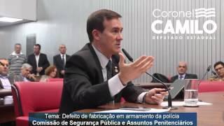 Coronel Camilo defende melhoria das armas usadas pela polícia e abertura ao mercado internacional