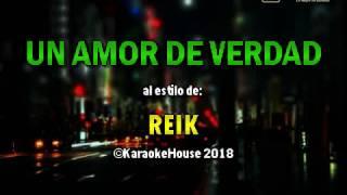 Karaoke   Un Amor De Verdad - Reik