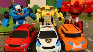 Тоботы Трансформеры Игрушки Мультики про Машинки для Детей Тобот X Тобот Y Тобот Z