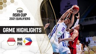Indonesia v Philippines - Highlights - FIBA Asia Cup 2021 - Qualifiers