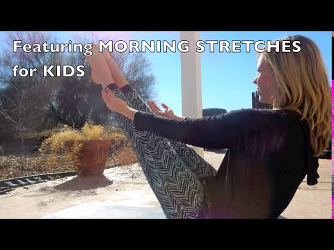 5 minute morning yoga stretches for kids  youtube