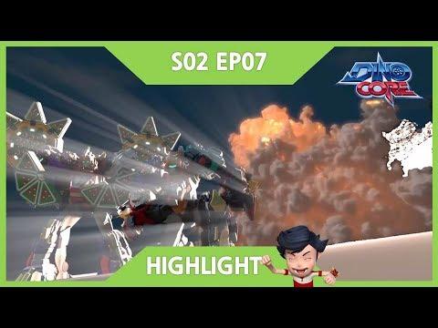 [DinoCore] Highlight   Akan vs. Bicycle   Dinosaur Robot Animation for Kids   Season 2 EP07