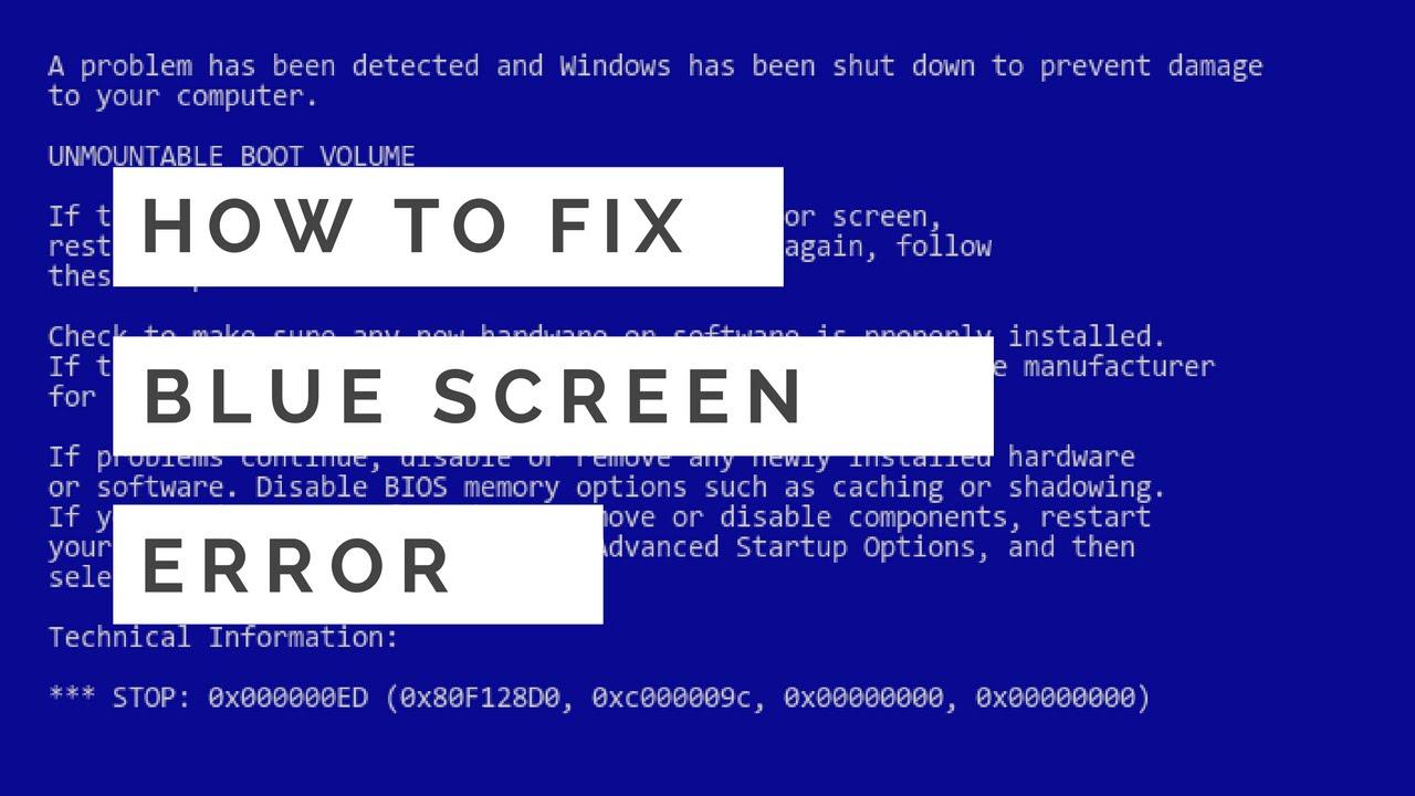 How to Fix Blue Screen Error Problem on Windows 7 - YouTube