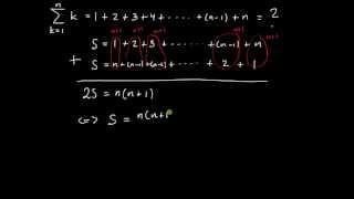 Summor del 2 - aritmetisk summa, formel