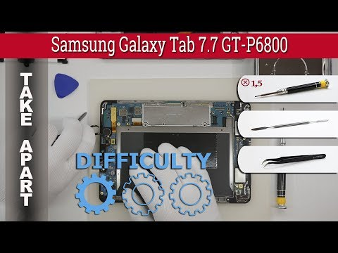 How to disassemble 📱 Samsung Galaxy Tab 7.7 GT-P6800 Take apart Tutorial