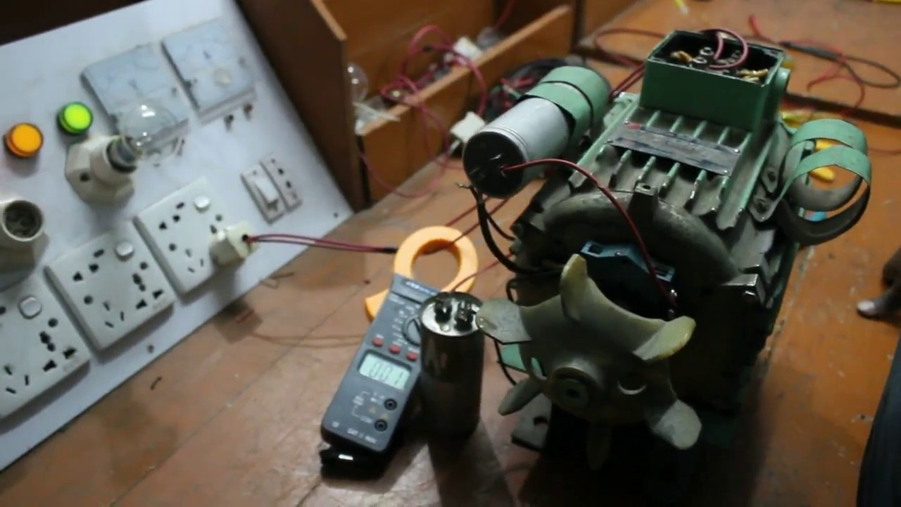 Capacitor Start And Run Motor Connection How To Save Current Bill Single Phase Wiring Diagram Youtube