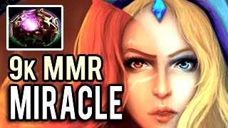 Monster Machine Gun Carry Crystal Maiden by Miracle - No Brain for you 32 Kills 9k MMR Gameplay Dota