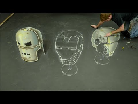 Iron Man 3D Chalk Art - AWE me Artist Series