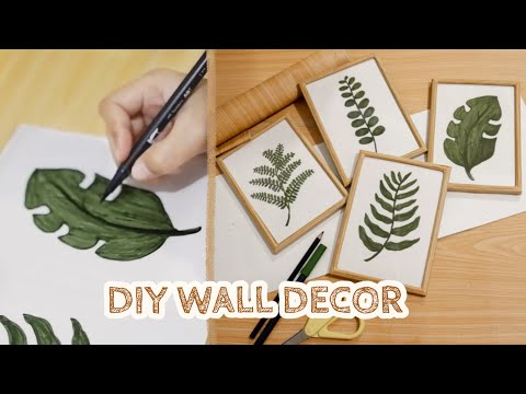 DIY ROOM DECOR #7 - Wall Decor Minimalist (Draw with Me) + Hacks (DIY on a budget) - YouTube