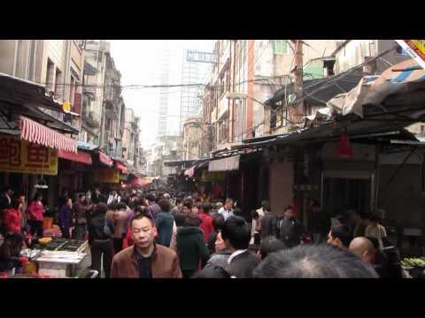 Xiamen street market in Fujian province, China