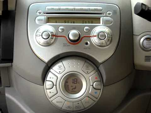Nissan Micra Integrated Audio System and Steering column