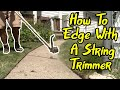 How To Edge With A String Trimmer Step by Step Tutorial