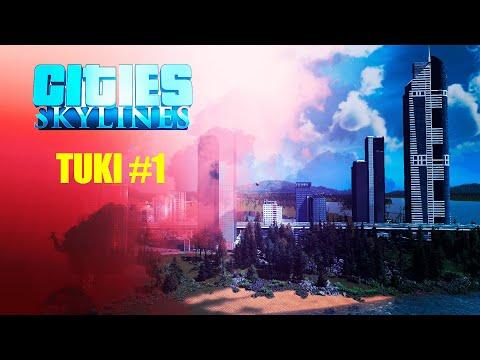 Cities Skylines начало большого строительства | Город Tuki #1 0+