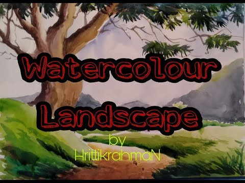 Beautiful Watercolour Landscape