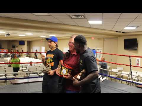 BOXING LEGEND JOHNNY OLIVER PRESENTS THE JIMMY OLIVER BELT TO OLA AND JONNI