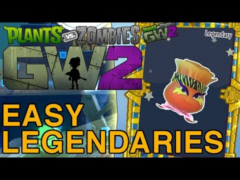 Easy Legendary Character Stickers in PvZ GW2 - Solo Infinity Time Just The Tips