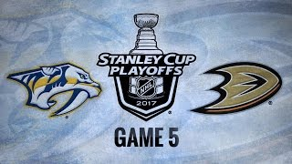 Aberg, Rinne lift Preds past Ducks in Game 5, 3-1