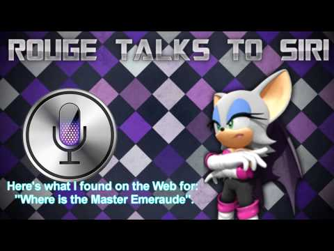 .:Rouge The Bat Talks To Siri:.