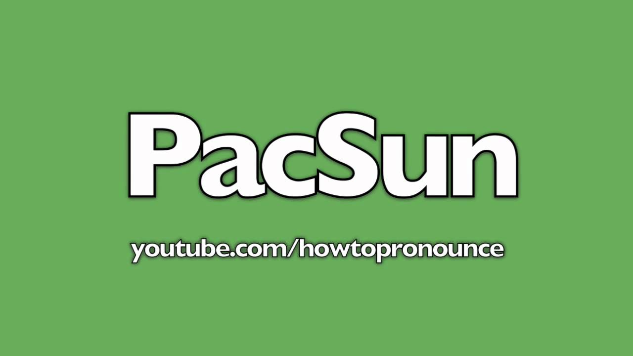 How To Pronounce PacSun - YouTube