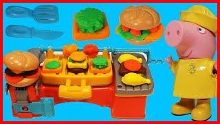 佩佩豬粉紅豬小妹的培樂多烤肉廚房玩具