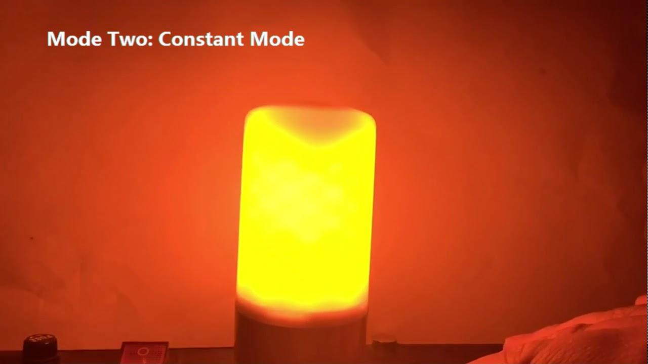 ampoule led effet flamme youtube. Black Bedroom Furniture Sets. Home Design Ideas