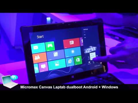 Micromax Canvas LapTab, tablet dualboot Android + Windows 8