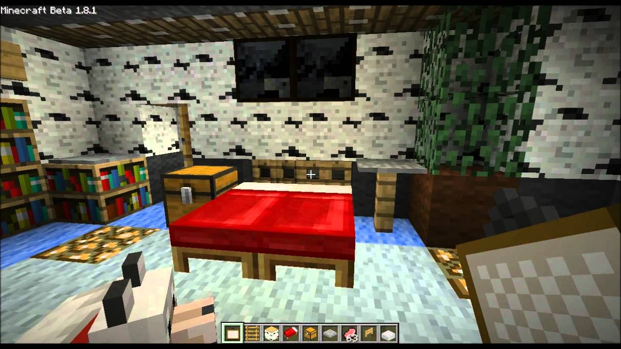 minecraft home design ep.16 (small bedroom, bed trick and