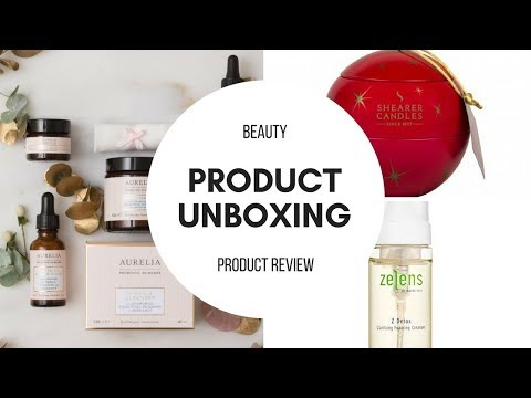 December Unboxing Beauty Products ft Shearer Candles, Aureli