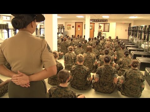 First Day Combat Training For Female US Marines