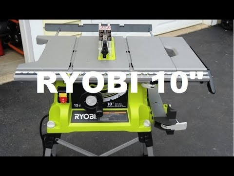 Ryobi 10 table saw youtube ryobi 10 table saw keyboard keysfo Choice Image