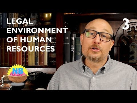 Legal Environment of Human Resources