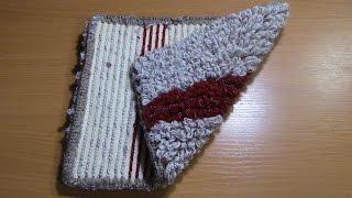 Вязание коврика на резиновой основе  Часть 6 из 6