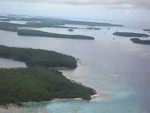 Rare view of Tonga islands from air